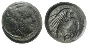 Bruttium, Kroton, c. 350-300 BC. Æ (17mm, ...