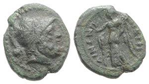 Bruttium, Petelia, late 3rd century BC. Æ ...