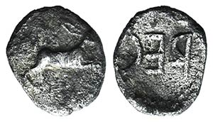 Bruttium, Rhegion. Anaxilas (Tyrant, c. ...