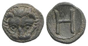 Bruttium, Rhegion, c. 415-387 BC. AR ...