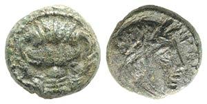 Bruttium, Rhegion, c. 415/0-387 BC. Æ ...