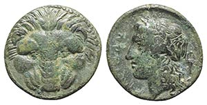 Bruttium, Rhegion, c. 351-280 BC. Æ (20mm, ...