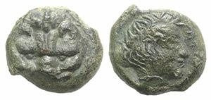 Bruttium, Rhegion, c. 351-280 BC. Æ (11mm, ...