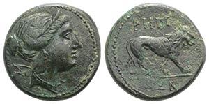 Bruttium, Rhegion, late 3rd century BC. Æ ...