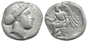 Bruttium, Terina, c. 400-356 BC. AR Triobol ...