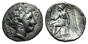 Bruttium, Terina, c. 300 BC. AR Drachm ...