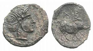 Sicily, Abakainon, c. 420-400 BC. AR ...