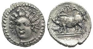 Sicily, Abakainon, c. 410-400 BC. AR Litra ...