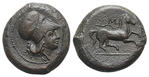 Sicily, Aitna, c. 355-339 BC. Æ (26mm, ...
