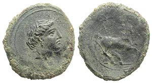 Sicily, Aitna, c. 354/3-344 BC. Æ Tetras ...