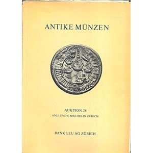 BANK LEU AG. – Auction 28.  Zurich, 5\6 ...