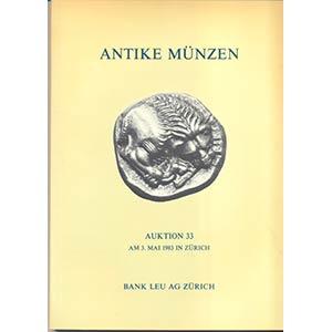 BANK LEU AG. – Auction 33. Zurich, 3 – ...