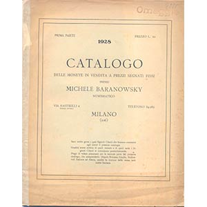 BARANOWSKY M. – Milano, 1928. I parte, ...