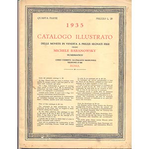 BARANOWSKY M. – Milano, 1935. IV parte. ...