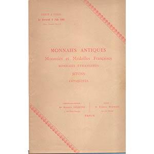 BOURGEY E. – Paris, 6 – Juin, 1900. ...