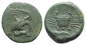 Sicily, Akragas, c. 425-406 BC. Æ Tetras ...