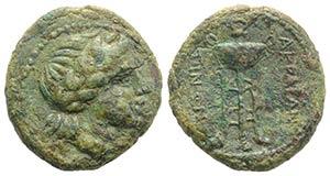 Sicily, Akragas, c. 240-212 BC. Æ (22.5mm, ...