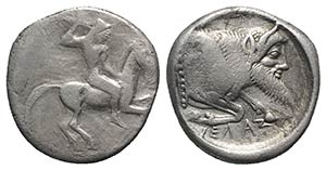 Sicily, Gela, c. 490/85-480/75 BC. AR ...