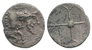 Sicily, Gela, c. 480/75-475/70 BC. AR Obol ...
