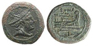Anonymous, Luceria, c. 214-212 BC. Æ ...