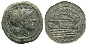 Anonymous, Rome, after 211 BC. Æ Triens ...