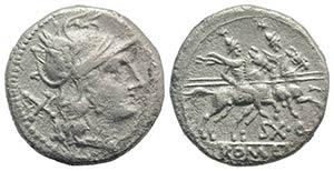 Sex. Quinctilius, Rome, 189-180 BC. AR ...