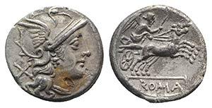Anonymous, Rome, c. 157/6 BC. AR Denarius ...