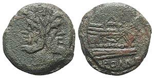 Anonymous, Rome, c. 157-6 BC. Unofficial Æ ...