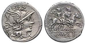 Q. Marcius Libo, Rome, 148 BC. AR Denarius ...