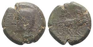 Samnium, Aesernia, c. 263-240 BC. Æ (20mm, ...