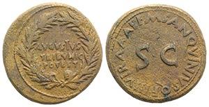 Augustus (27 BC-14 AD). Æ Dupondius (28mm, ...