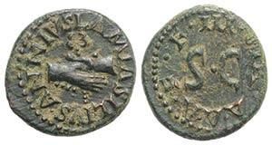 Augustus (27 BC-AD 14). Æ Quadrans (16.5mm, ...