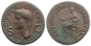 Divus Augustus (died AD 14). Æ Dupondius ...