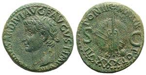 Tiberius (14-37). Æ As (27mm, 11.11g, 12h). ...