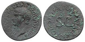 Drusus (Caesar, 19-23). Æ As (31mm, 10.54g, ...