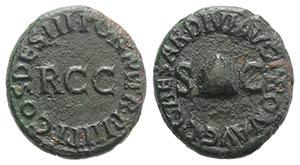 Gaius (Caligula, 37-41). Æ Quadrans (17mm, ...