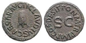 Claudius (41-54). Æ Quadrans (17mm, 3.02g, ...
