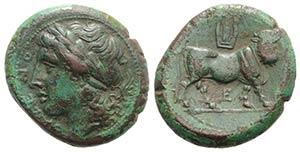 Northern Campania, Cales, c. 265-240 BC. Æ ...