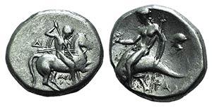 Southern Apulia, Tarentum, c. 272-240 BC. AR ...