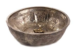 CIOTOLA IN ARGENTO Iran, XVI secolo  15 cm ...