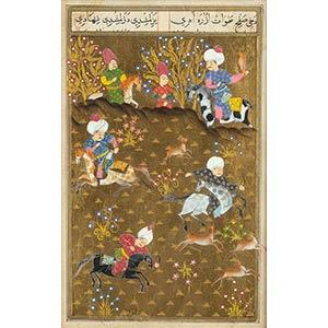 TRE MINIATURE Persia, XIX-XX secolo  Una con ...