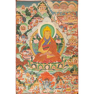 THANGKA Tibet, XIX-XX secolo  93 x 62 cm  ...