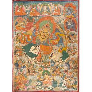 THANGKA Tibet, XIX-XX secolo  96 x 70 cm  ...