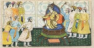 MINIATURA SU AVORIO India, XIX secolo  7,5 x ...