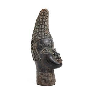 A BRONZE QUEEN HEAD Nigeria, Benin ...