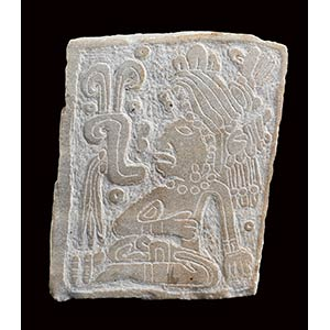 LASTRA IN PIETRA INCISA Stile Olmeco  15,2 x ...