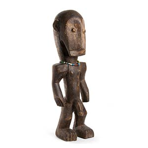FIGURA IN LEGNO E BEADS Africa  57 cm ...