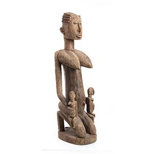MATERNITÀ IN LEGNO Mali, Dogon  92 cm ...