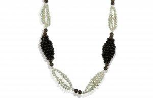 Quartzs and pearls necklace   Geometrica ...