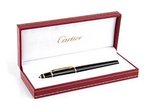 PENNA CARTIER  Penna Cartier, laccata, nera, ...